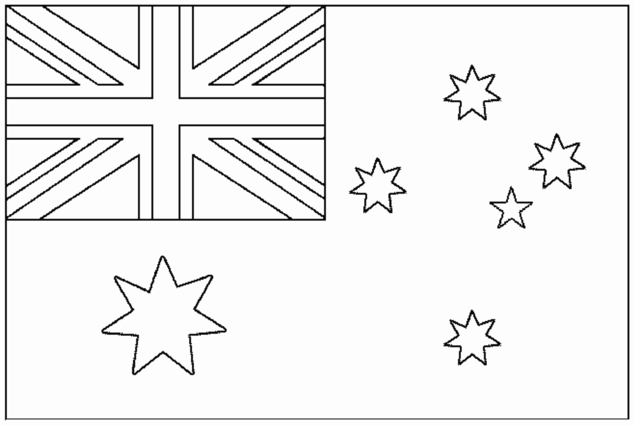 Australia Flag Coloring Page Luxury Flag Australia Flags Coloring