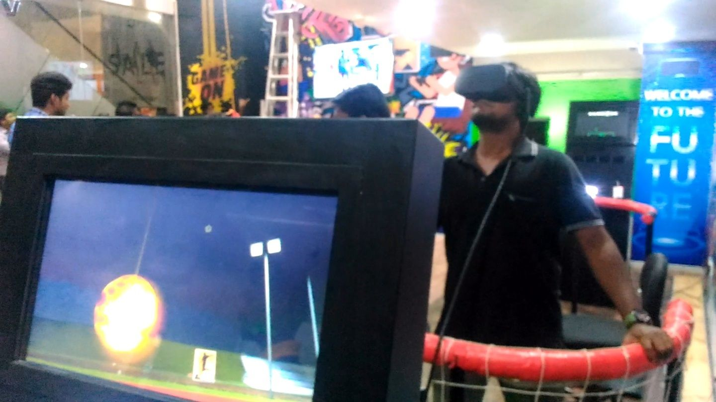 VR Soccer Head isn't just for sports fans. This visitor