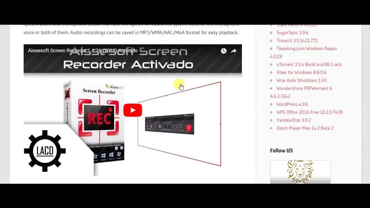 Aiseesoft Screen Recorder 2 1 6 Crack | bahawalpur | Screen