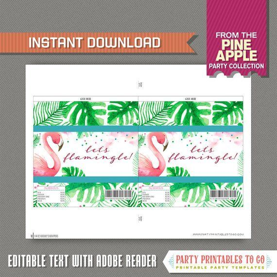 Flamingo Party Candy Bar Wrappers - Flamingo Birthday - Flamingo Chocolate Wrapper -INSTANT D... Flamingo Party Candy Bar Wrappers - Flamingo Birthday - Flamingo Chocolate Wrapper -INSTANT DOWNLOAD,