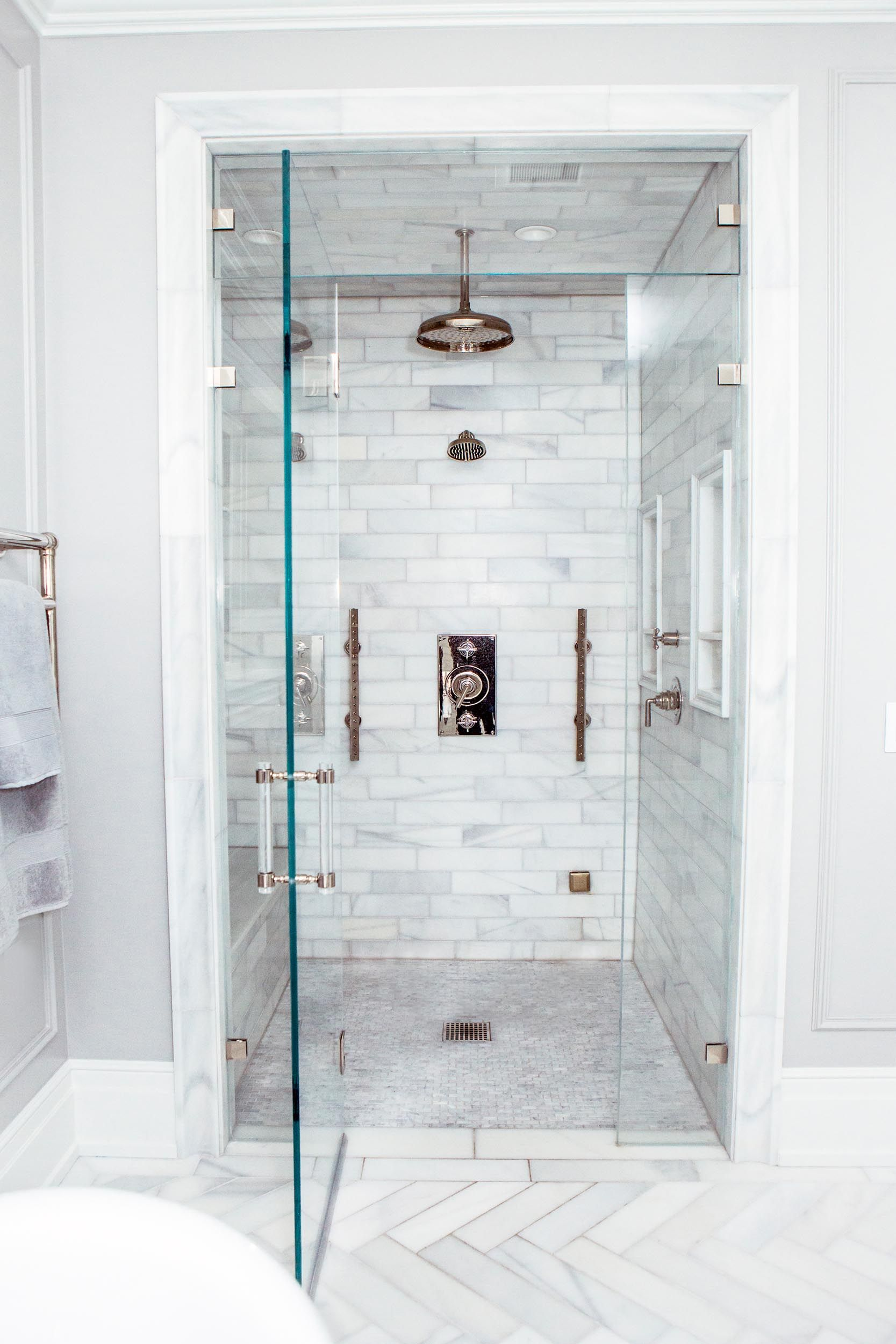 Parisian Classic Marble Shower Tile Steam Room Shower Marble