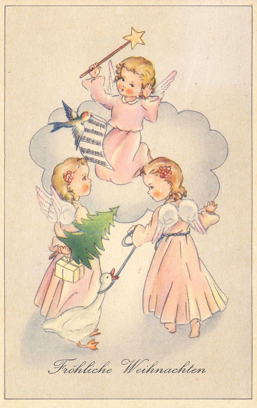 weihnachten engelchen im rosa kleid 1946 ebay christmas angels pinterest. Black Bedroom Furniture Sets. Home Design Ideas