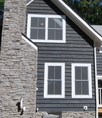 Slate Gray Semi Solid Stain Siding In 2019 Semi