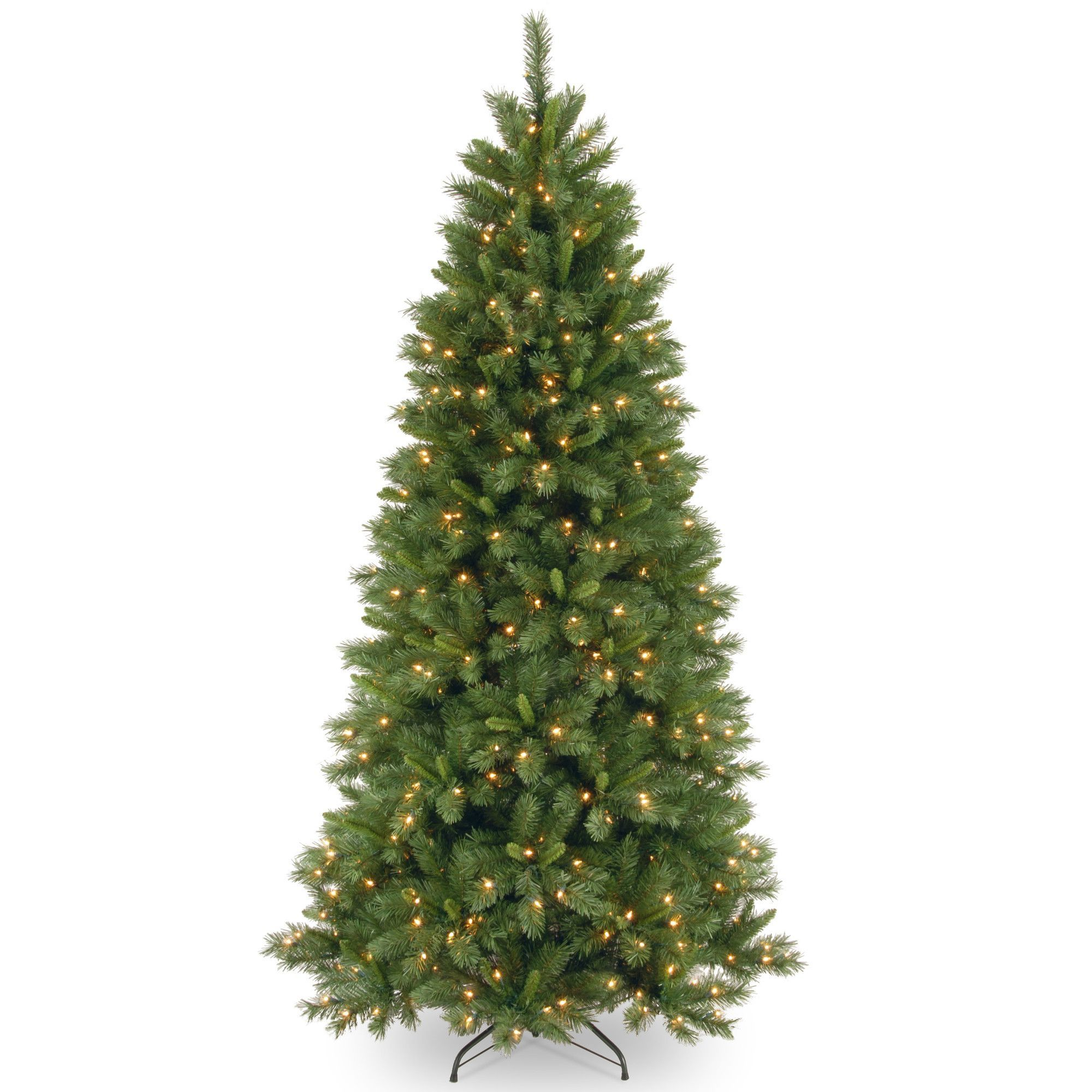 Lehigh Valley Pine 7.5\' Green Artificial Christmas Tree with 500 ...