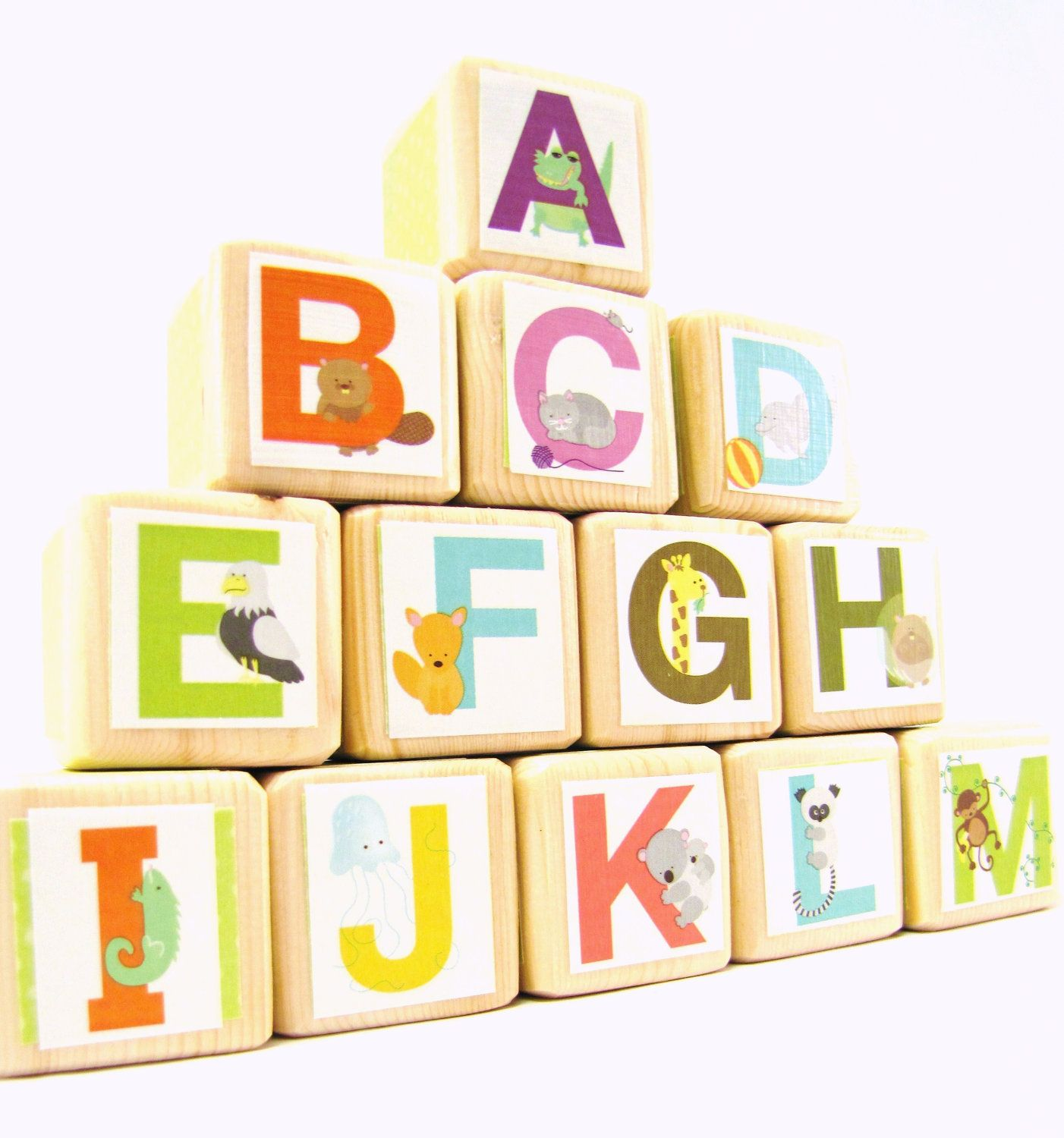 Alphabet Blocks Wood Toy abc s Educational Toddler Toy Baby