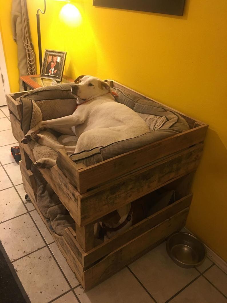 Large Dog Bed For 2 Bunk Bed Dog Crate Furniture Dog Bed Large Pallet Dog Beds