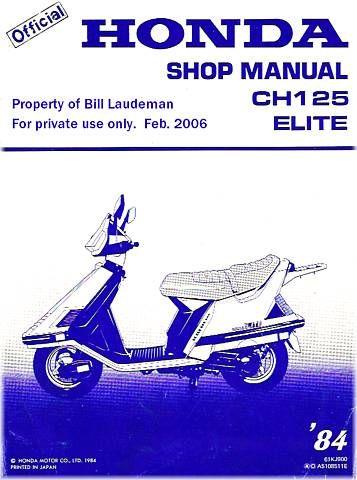 one of my rides 1985 honda elite 150 my harley scoot tastic rh pinterest com Honda Accord Service Manual 1985 honda elite repair manual