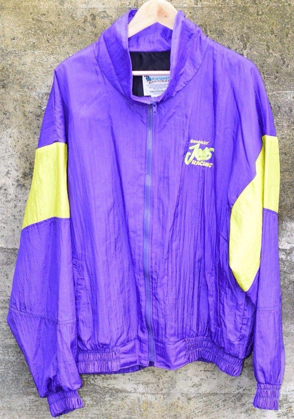 Smokin Joe Camel Racing Jacket Vintage Windbreaker 90s Mens XL Rare Nascar OG