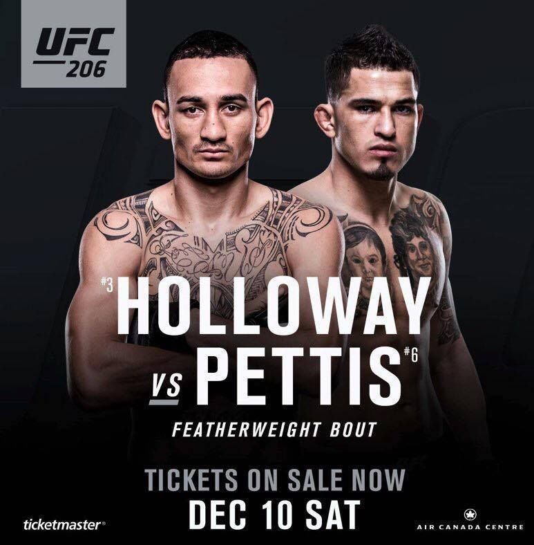 Anthony Pettis Vs. Max Holloway Confirmed For UFC 206