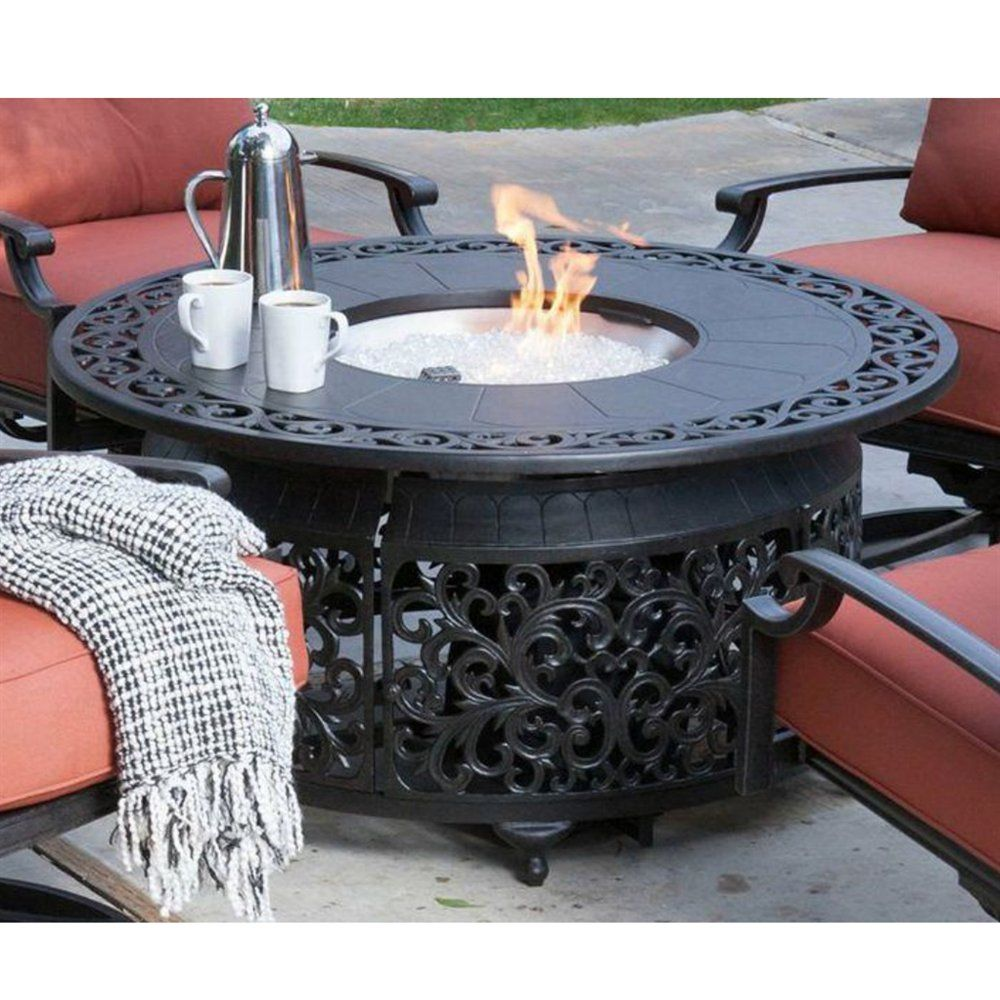 Paramount Fp 251 Round Outdoor Propane Fire Pit Table Lowe S