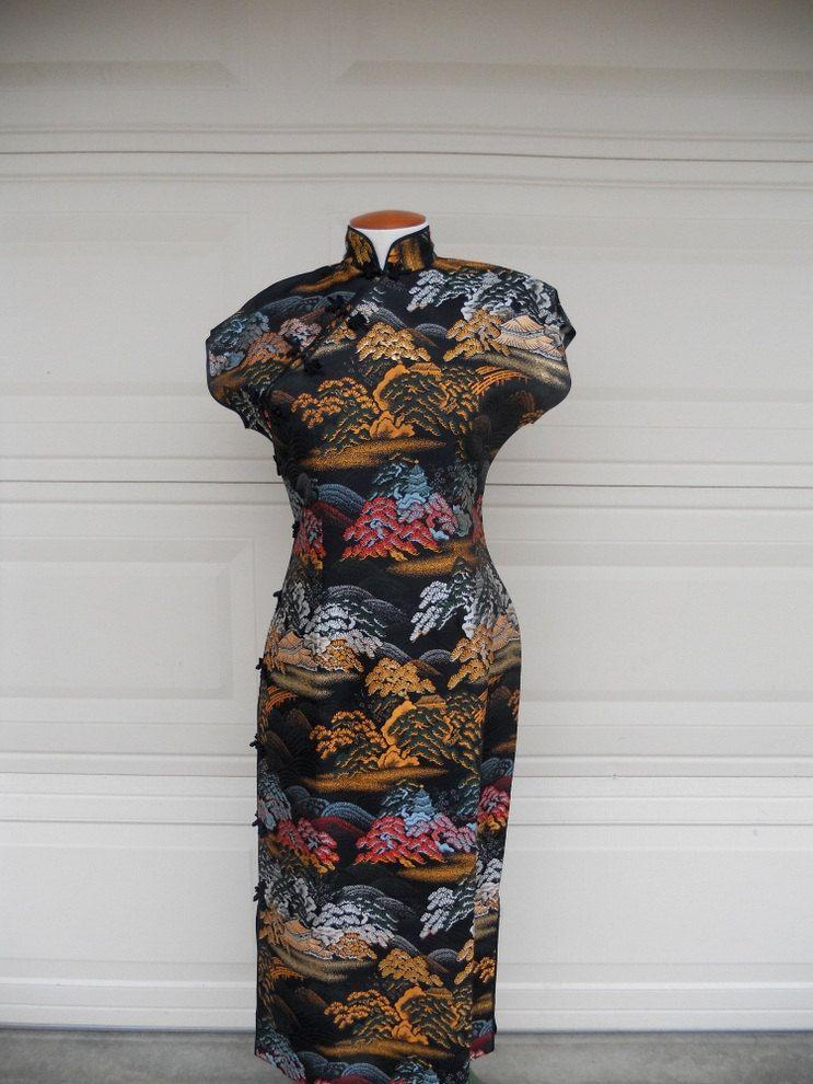 Vintage Cheongsam Maxi Kleid. Pagode und von freshlavender auf Etsy