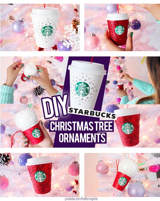 Make Your Own Starbucks Christmas Tree Ornaments Re Using The Cups Of Your Hot Drinks Starbucks Diy Starbucks Crafts Starbucks Christmas