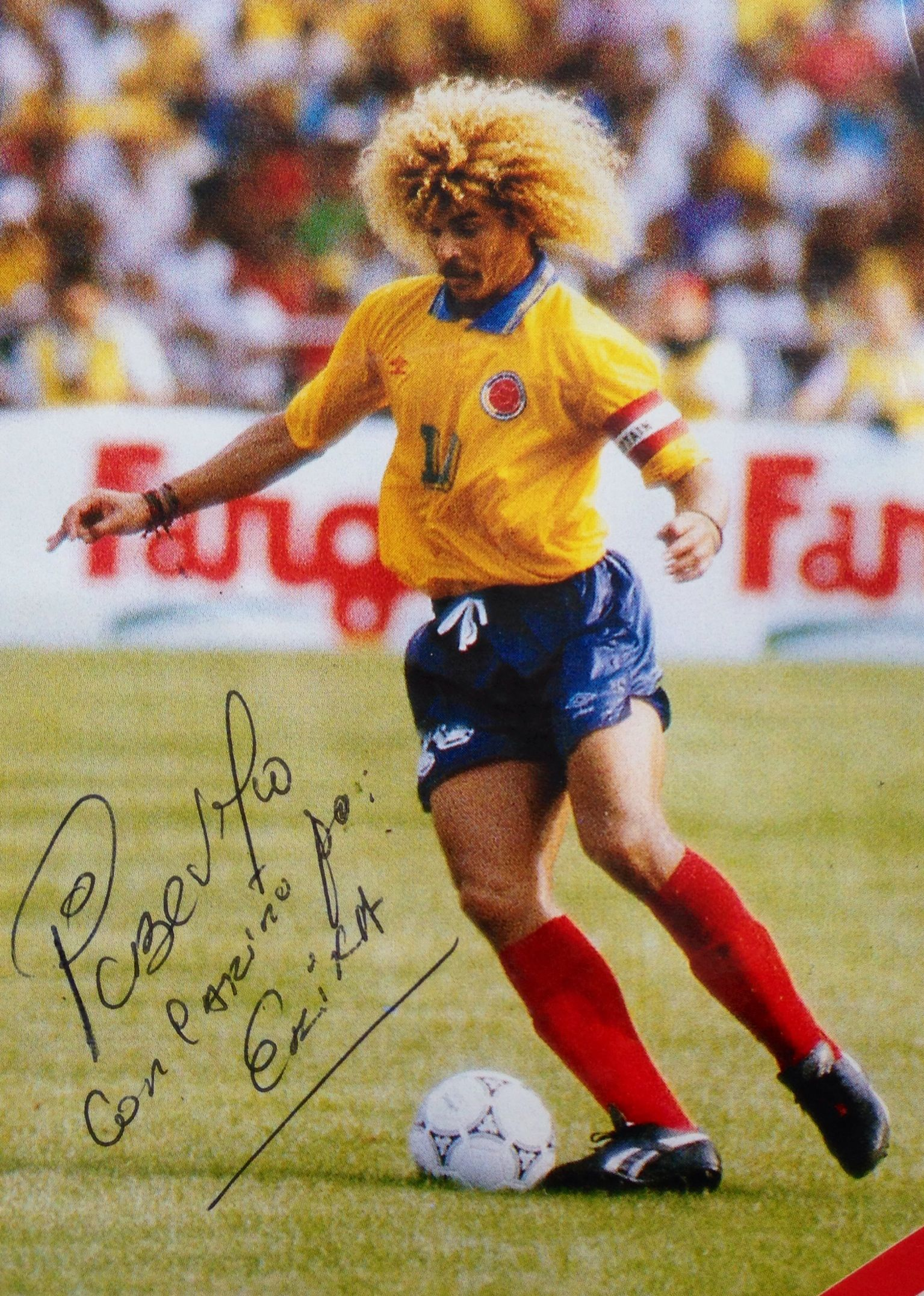 Pibe Valderra, Colombian soccer player. National sport