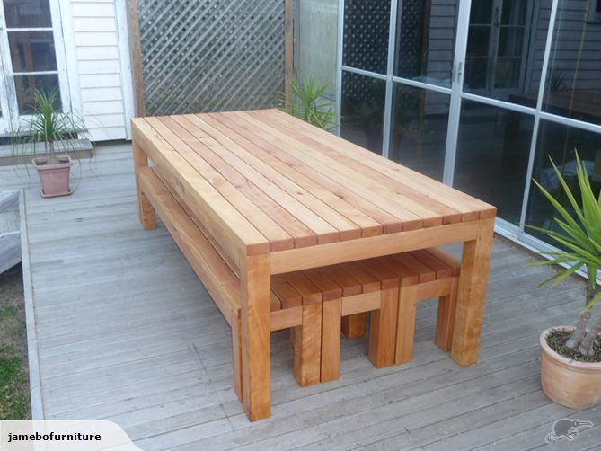 Macrocarpa Table And Benches 2800mm X 1135mm NZ$2600