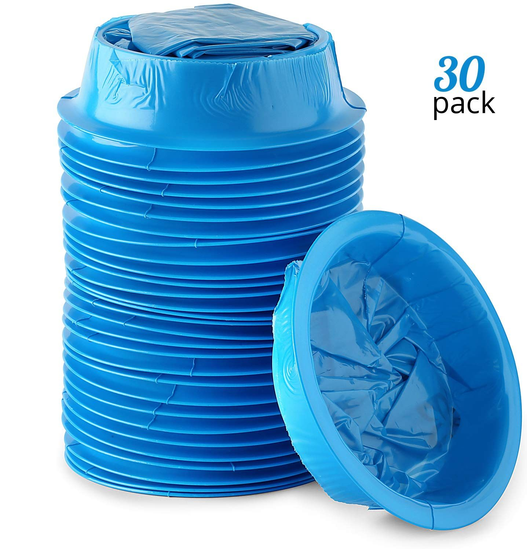 Premium Emesis Vomit Bags 30Pack Disposable Blue