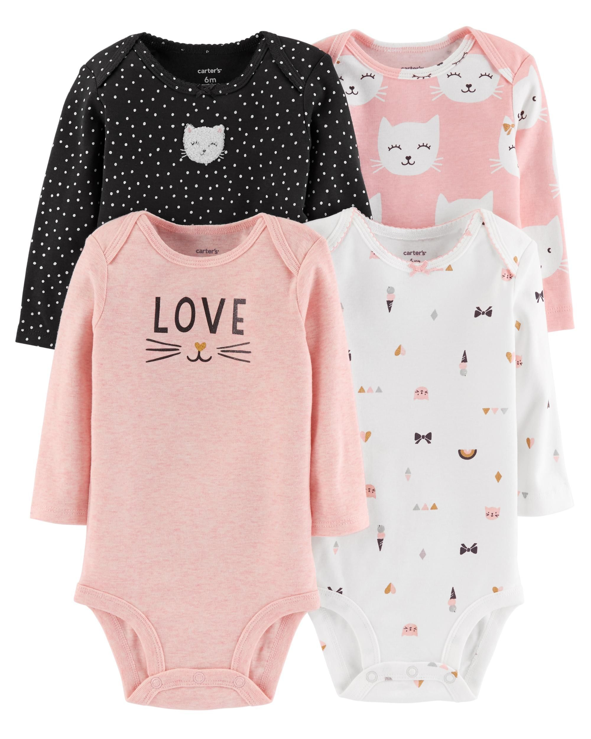 e9834a9f8 4-Pack Long-Sleeve Original Bodysuits | Baby Al | Carters baby girl ...