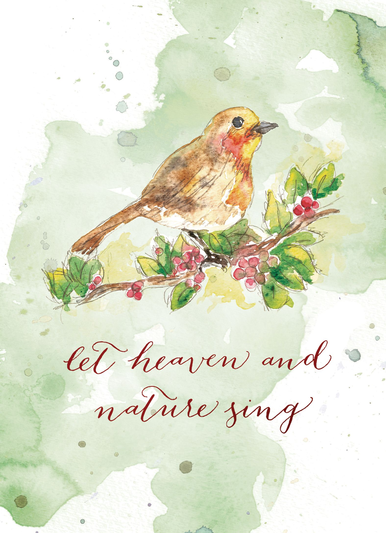 Heaven and Nature Sing: hand drawn art by Hillary Barnard Owen. Proceeds benefit women and children healing from abuse.