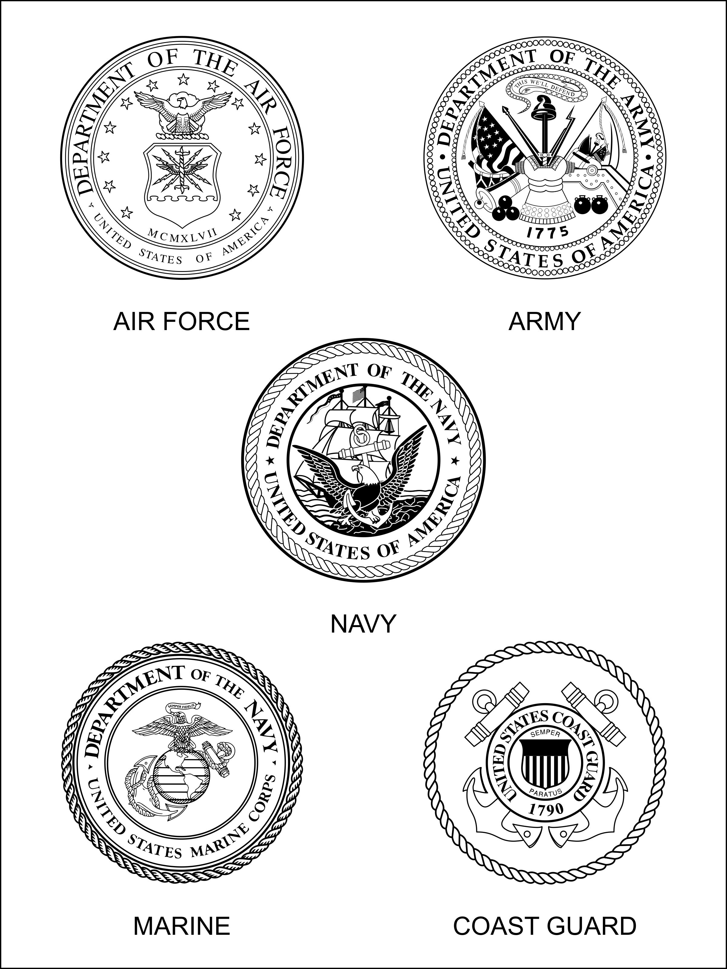 army color clipart [ 2401 x 3200 Pixel ]