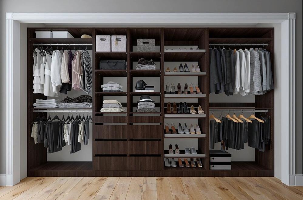 Photo of Tessa 132 W Kloset Closet System – Tuscany Brown / 21 D