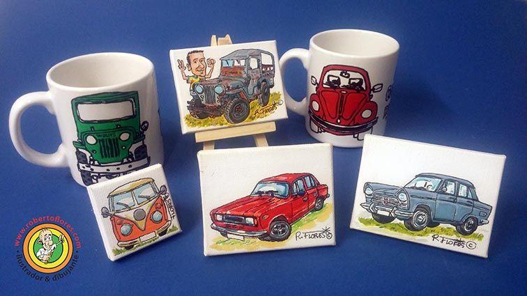 New commissioned order #willysjeep #cj2a #cartoon on mini #canvas (9 x 7 cms.). www.robertoflores.com