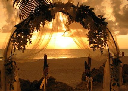 Sunset Wedding Arbor At The Beachhouse Anna Maria Island Florida