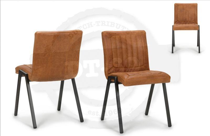 Industriële stoel framed zonder armleuning vintage