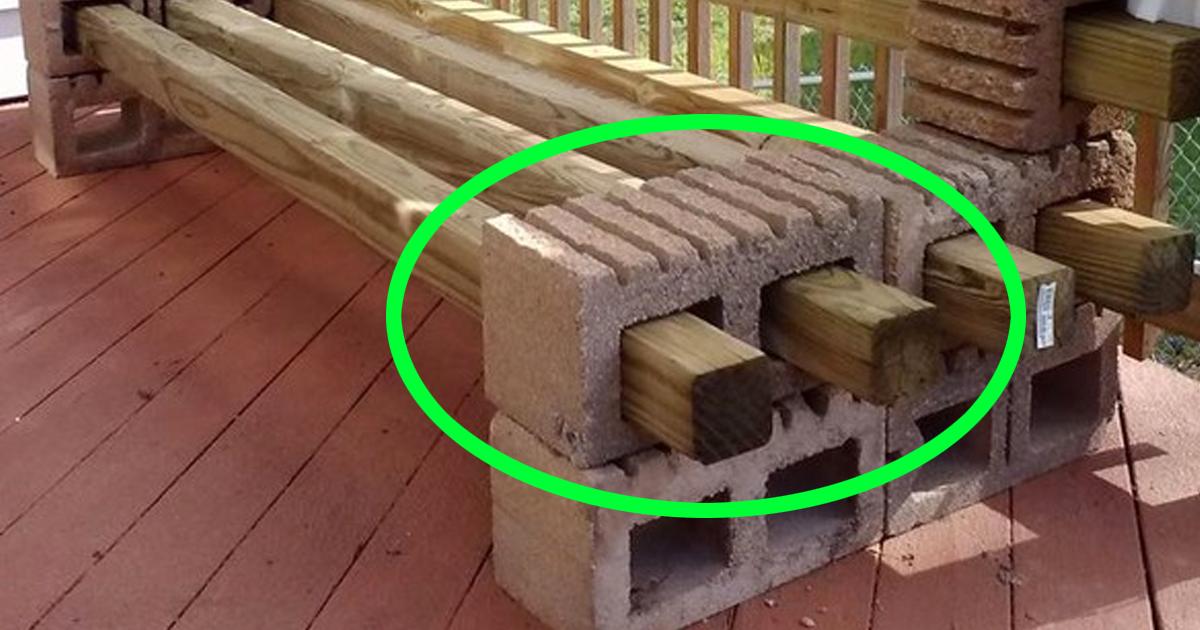 Me ahorrare un mont n de dinero lo que puedes hacer con for Bloques de cemento para pisos de jardin