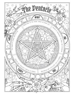 wicca coloring pages | Book of Spells | Witches