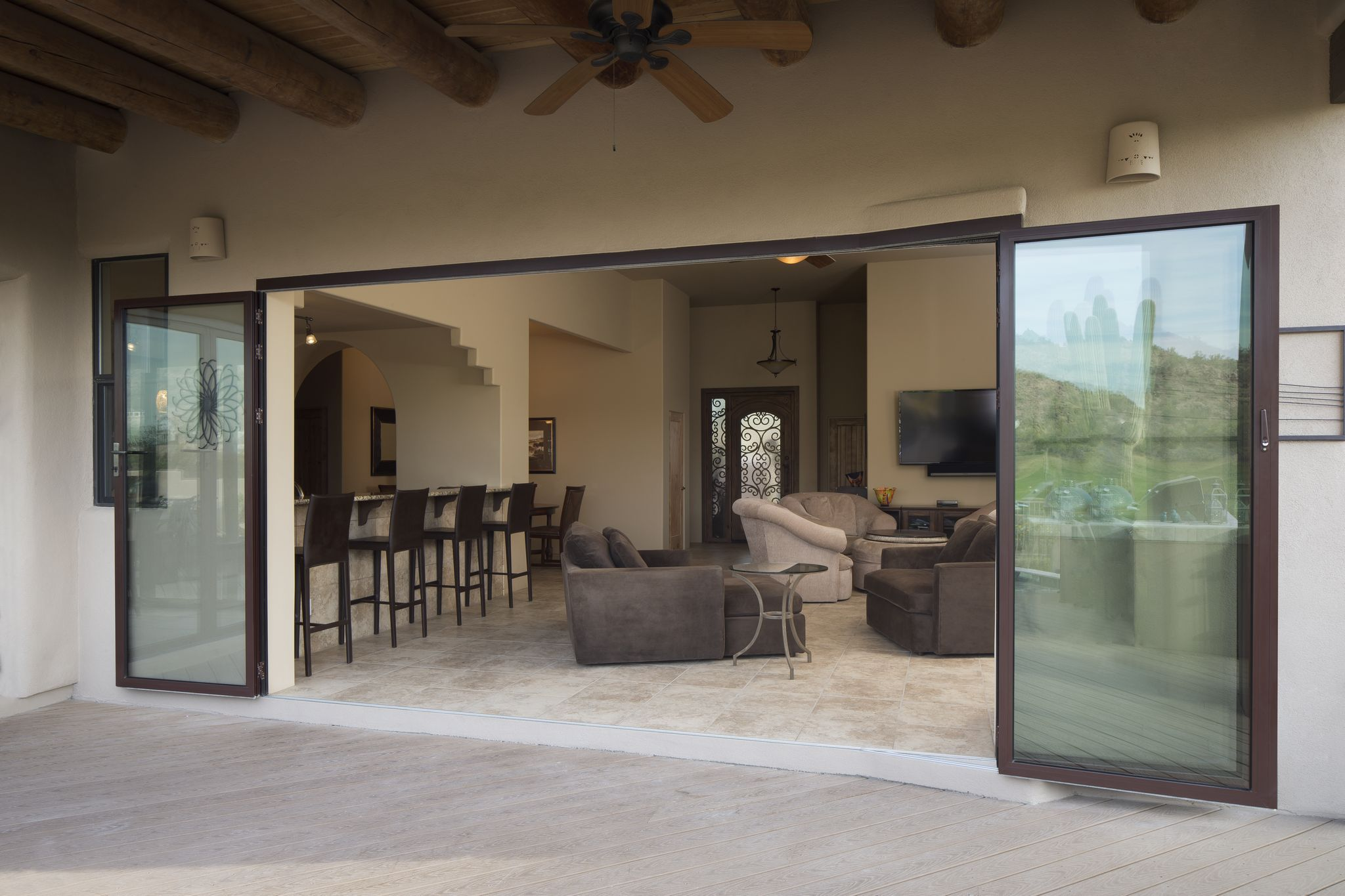 Folding Doors Rotate An Entire 180 Degrees To Completely Fold Against A Wall Nanawall Operable Gl Systems