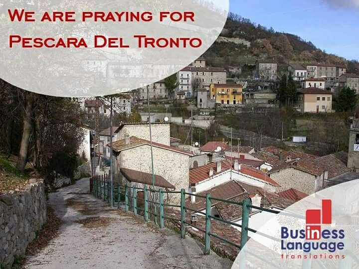 Nós da BL estamos orando por Pescara del Tronto.