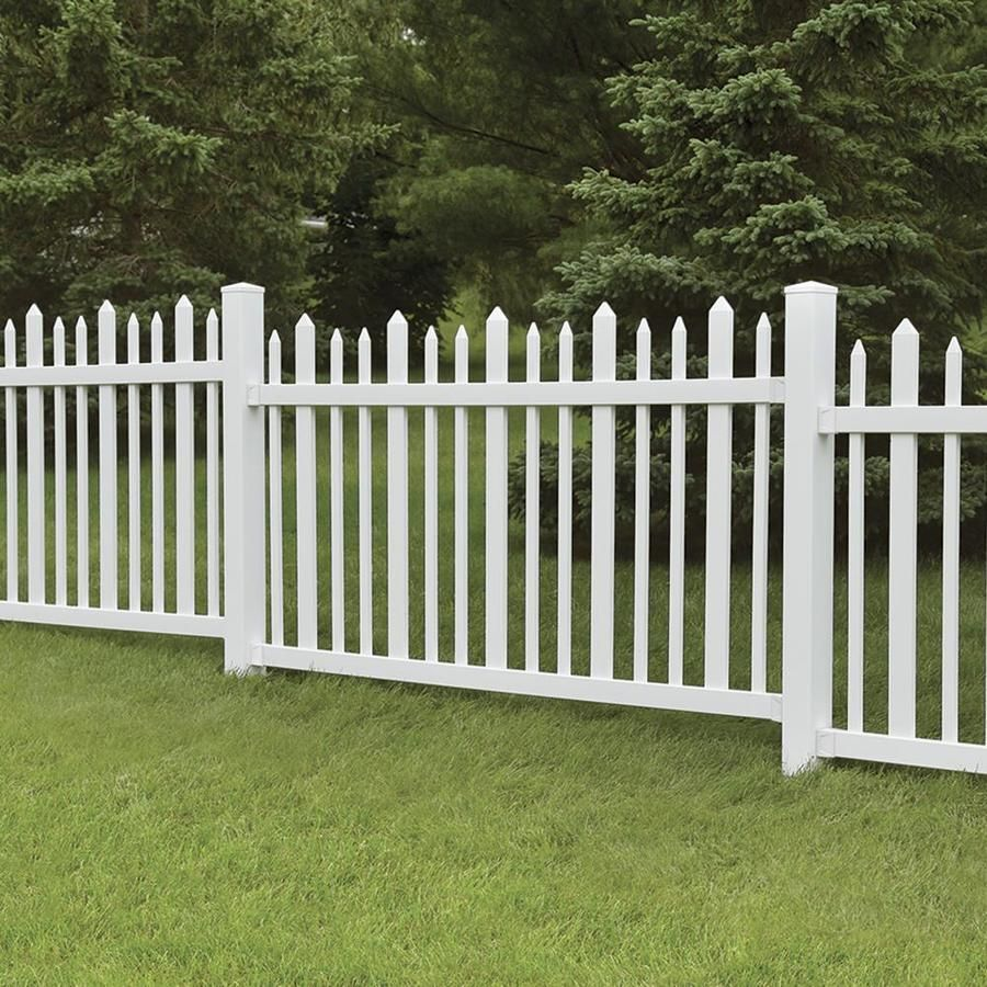 Freedom Actual 3 83 Ft X 7 63 Ft Pre Assembled Ashford White Vinyl Decorative Fence Panel At Lowes Com Fence Panels Vinyl Fence Metal Fence Panels