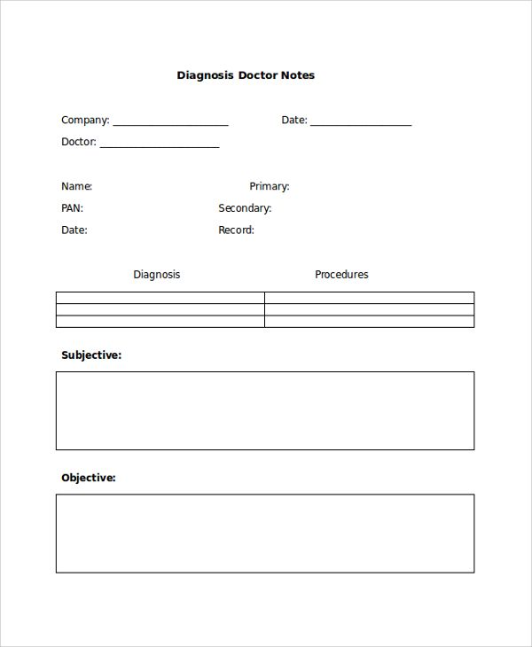 Sample Doctor Note - 24+ Free Documents in PDF, Word Homes - notes template word