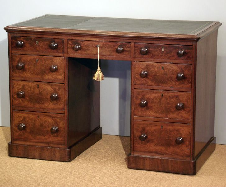 Small antique pedestal desk Early 19th century small mahogany pedestal desk,  moulded top with replacement - Small Antique Pedestal Desk Cave Pinterest Pedestal Desk