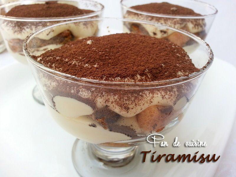 Tiramisu en verrine
