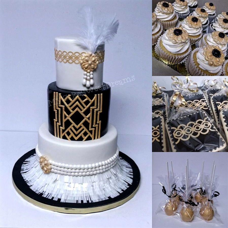 Great Gatsby Cake
