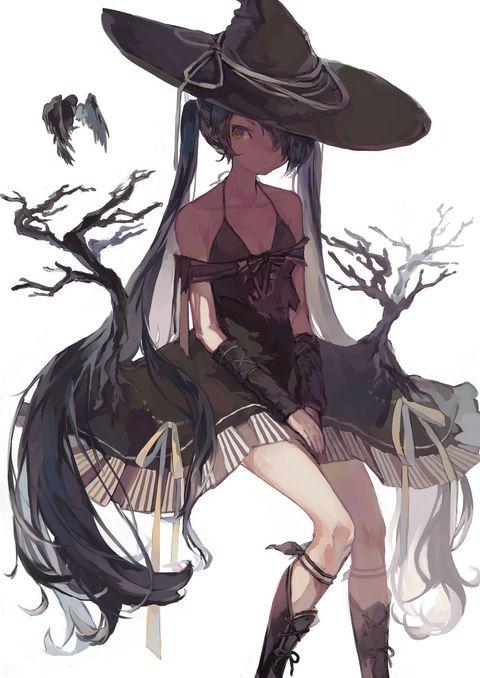 枯れた森の魔女 スズカミ pixiv イラスト 魔女 イラスト 可愛い メンヘラ