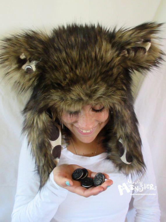 MEGA-Fuzzy Aviator hat Brown Husky Fur hat by MostlyMonstersCV