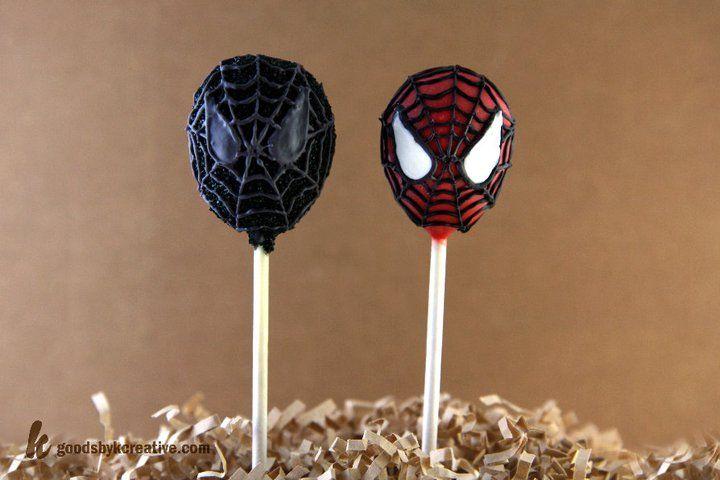 Spiderman Amp Venom Cake Pops In 2019 Cake Pops