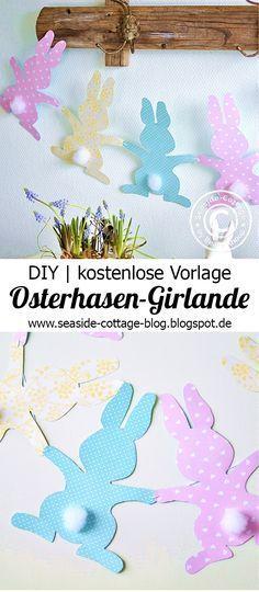 Last Minute DIY: Bunte Osterhasen-Girlande | Craft