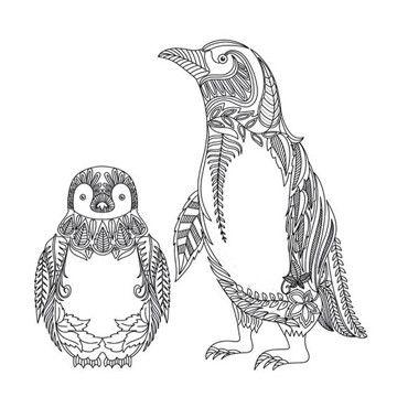 dibujos de pinguinos para colorear a lapiz | Imagenes de la ...