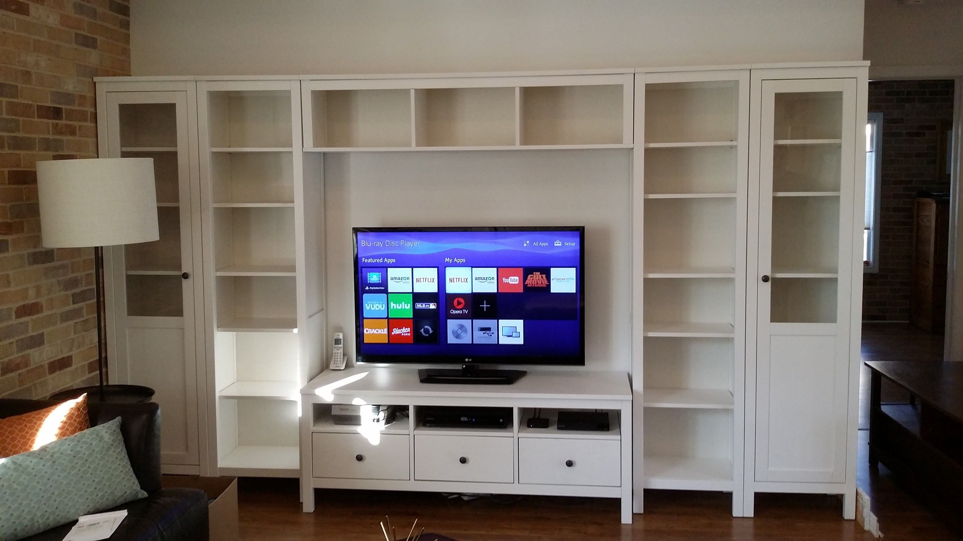 Hemnes, Entertainment Center, Bookcases, Ikea, Hacks, Libraries, Ikea Ikea, Cute