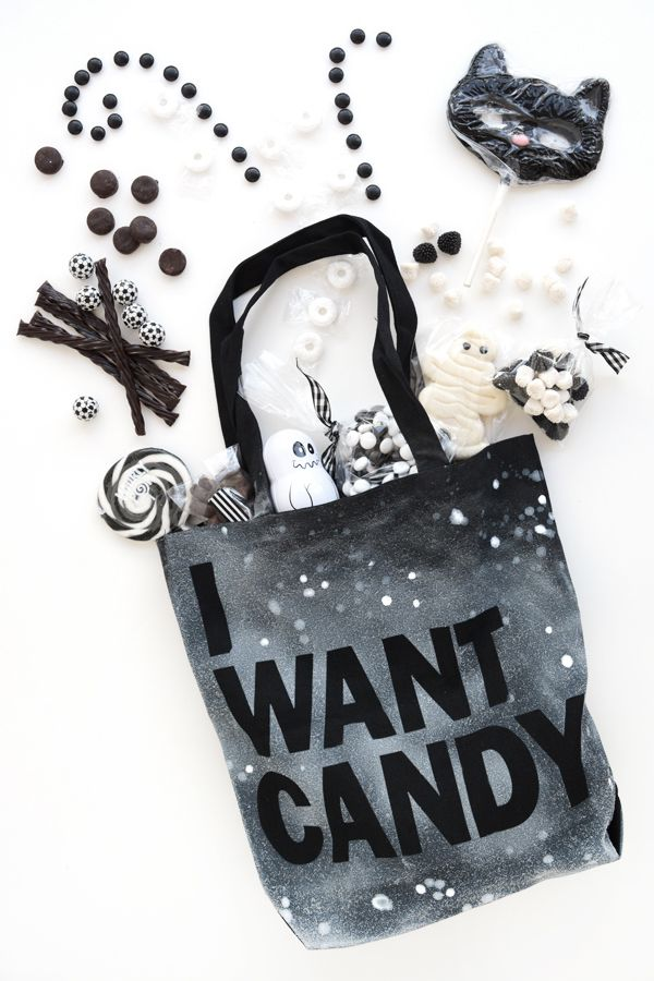 DIY Sassy Trick or Treat Bags Halloween Style Challenge - decorate halloween bags