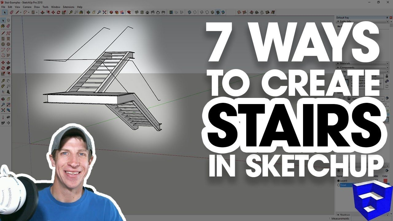 7 Ways To Create Stairs In Sketchup