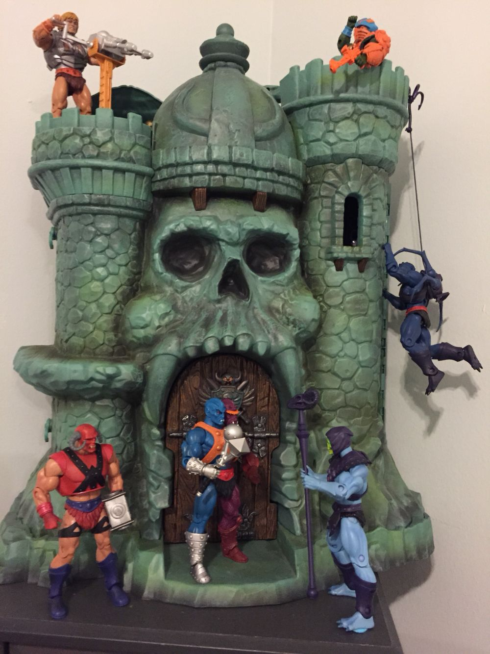 Masters OF THE UNIVERSE MOTU vintage figura Stand Display Giocattolo HE-MAN Hordak