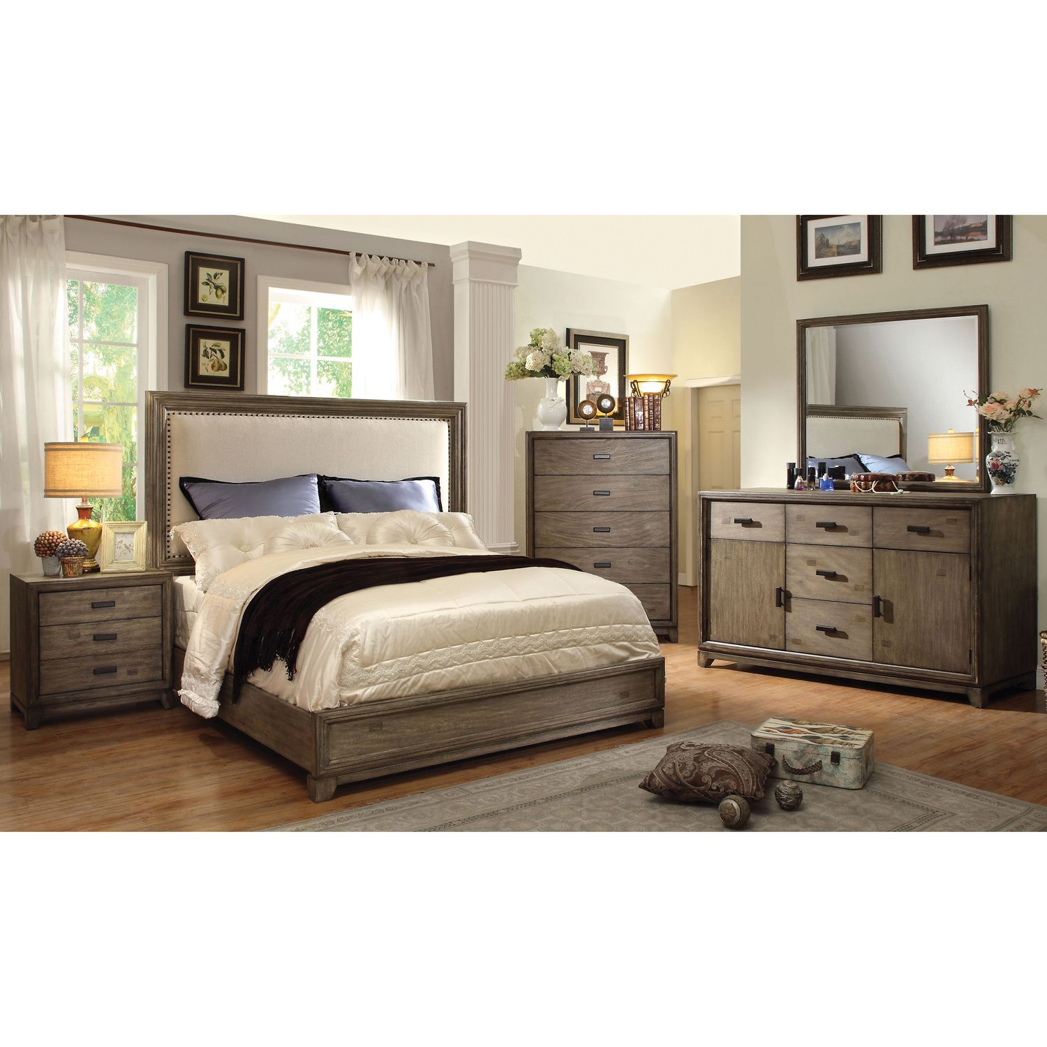 Cool rustic tones are sure to be an elegant addition to - Rustic elegant bedroom furniture ...