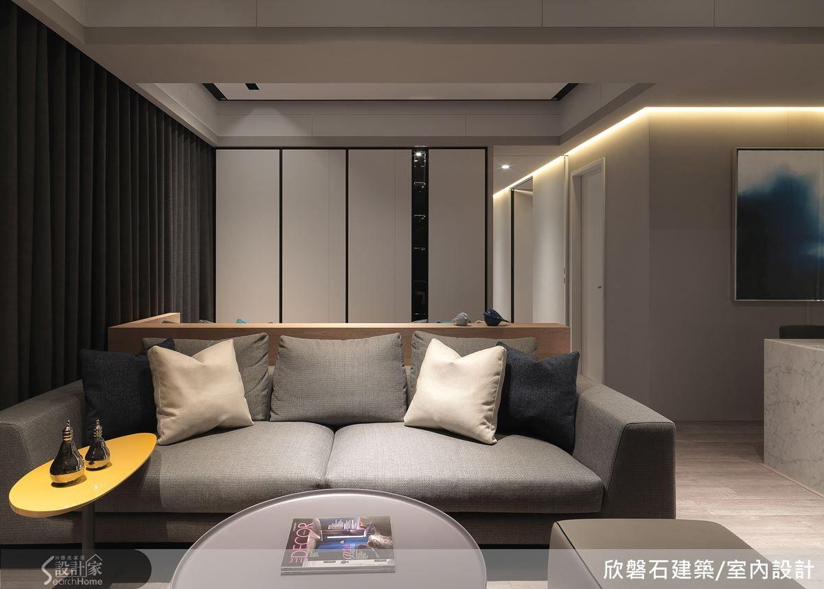 以機能打造單身宅的清爽與優雅 Living Hall Furniture Interior Design