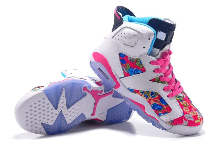 Girls-Air-Jordan-6-Retro-GS-White-Black-