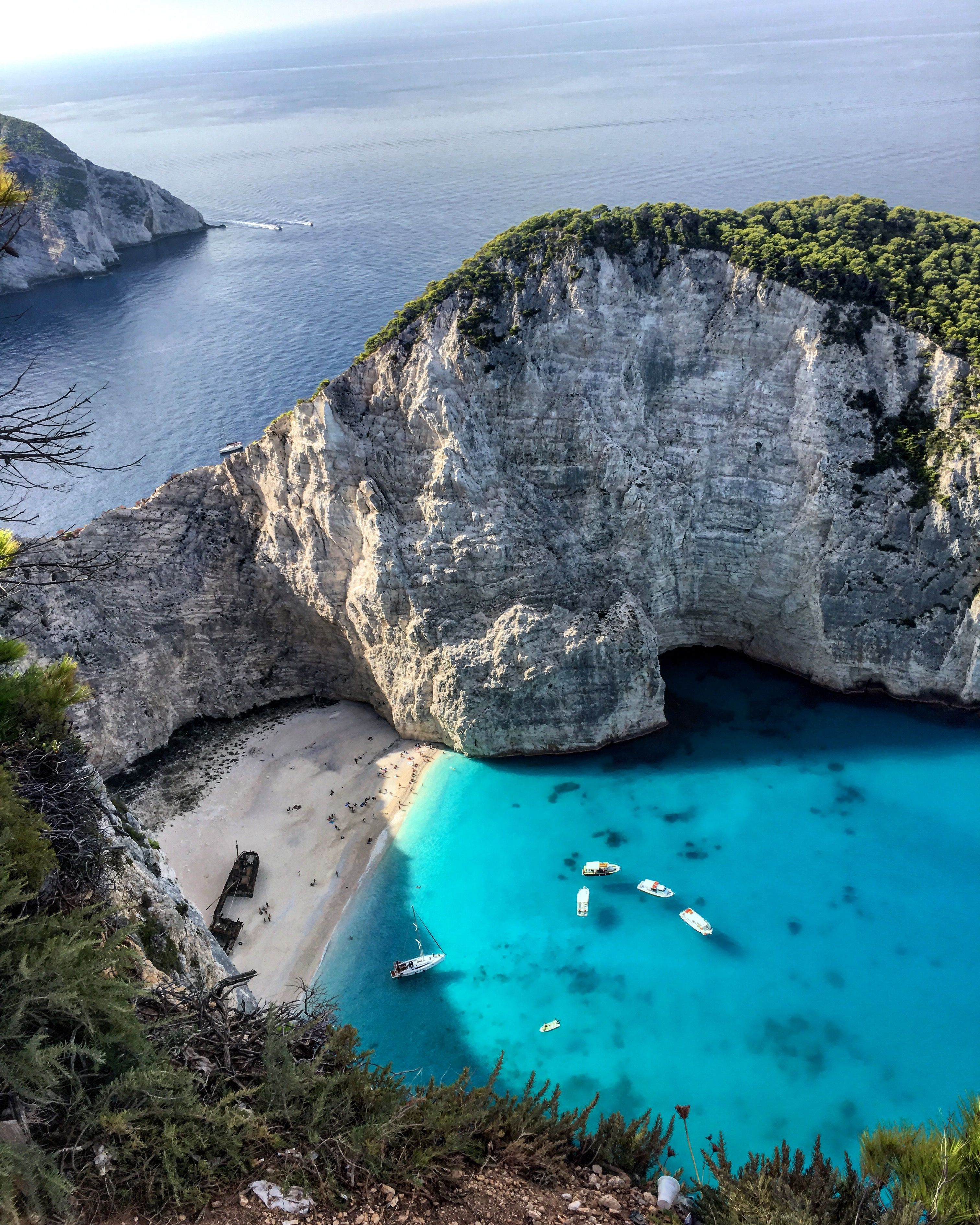 Shipwreck Beach Water In Shades You Never Thought Imaginable Zakynthos Shipwreck Zakynthosbeach Places To Travel Europe Travel Zakynthos