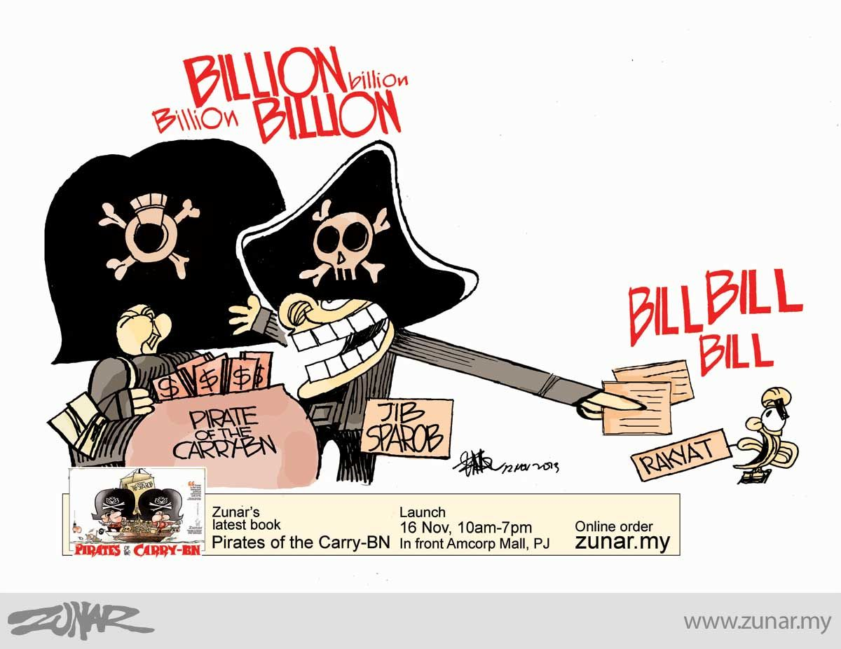 Billion and Bill #malaysia #bill #corruption #pirate