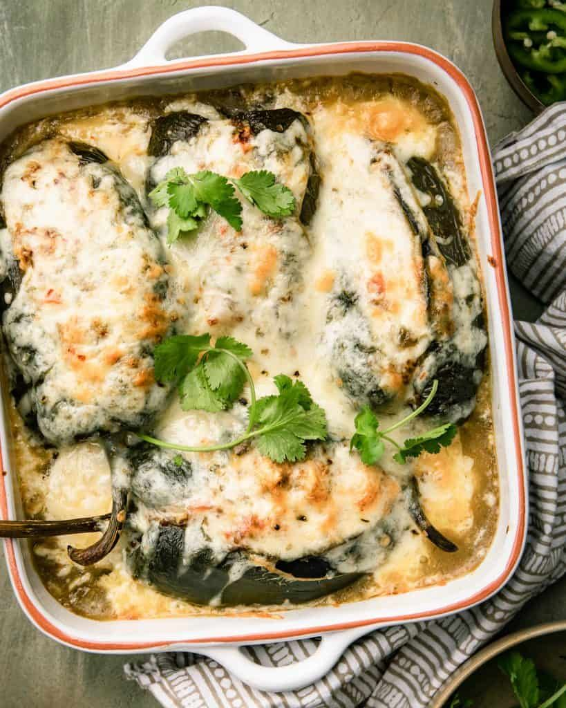 Chicken Stuffed Poblano Peppers With Cheese Joanie Simon Recipe Stuffed Peppers Mexican Food Recipes Recipes